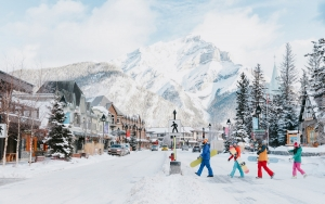 banff downtown skiers crossing online 1200