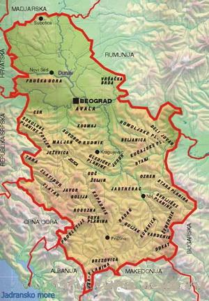 stara planina mapa srbije Planine Srbije » Skijanje.rs stara planina mapa srbije