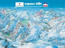 Ski mapa oblasti Escape Killy