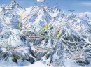 Courchevel - ski mapa