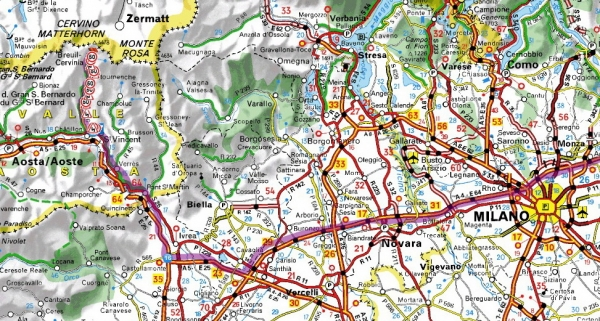 mapa milana italija Cervinia » Skijanje.rs mapa milana italija