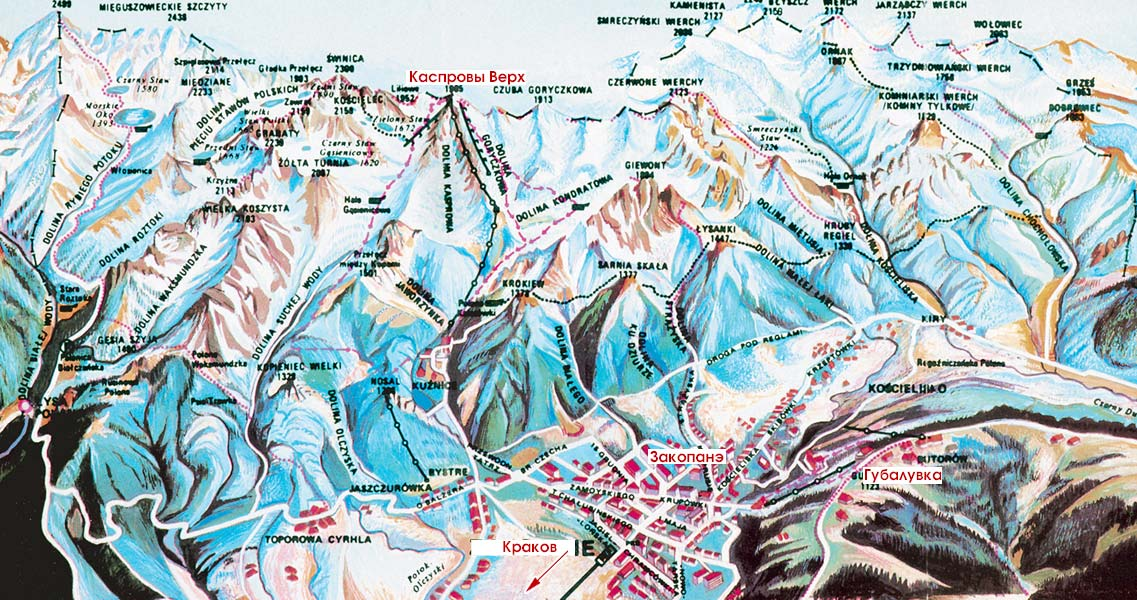 zakopane ski map: