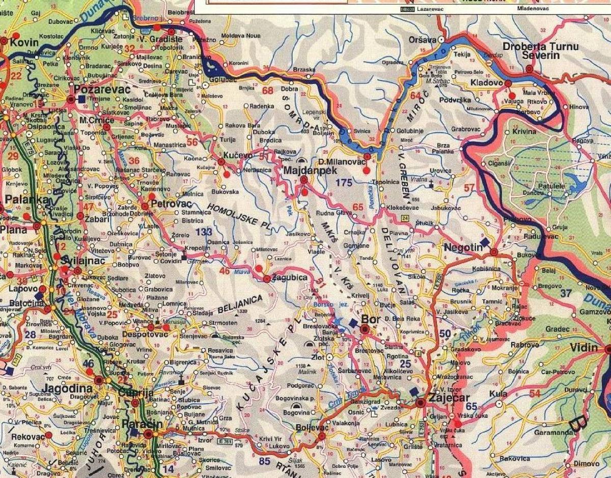 bor mapa Crni vrh   Bor » Skijanje.rs bor mapa