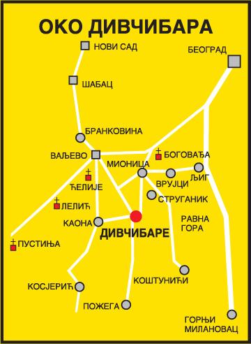 mapa srbije divcibare Divčibare » Skijanje.rs mapa srbije divcibare