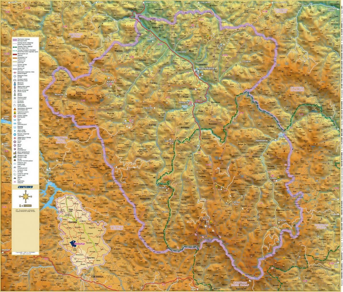 geografska karta zapadne srbije Golija   Ivanjica, Dajica brdo » Skijanje.rs geografska karta zapadne srbije