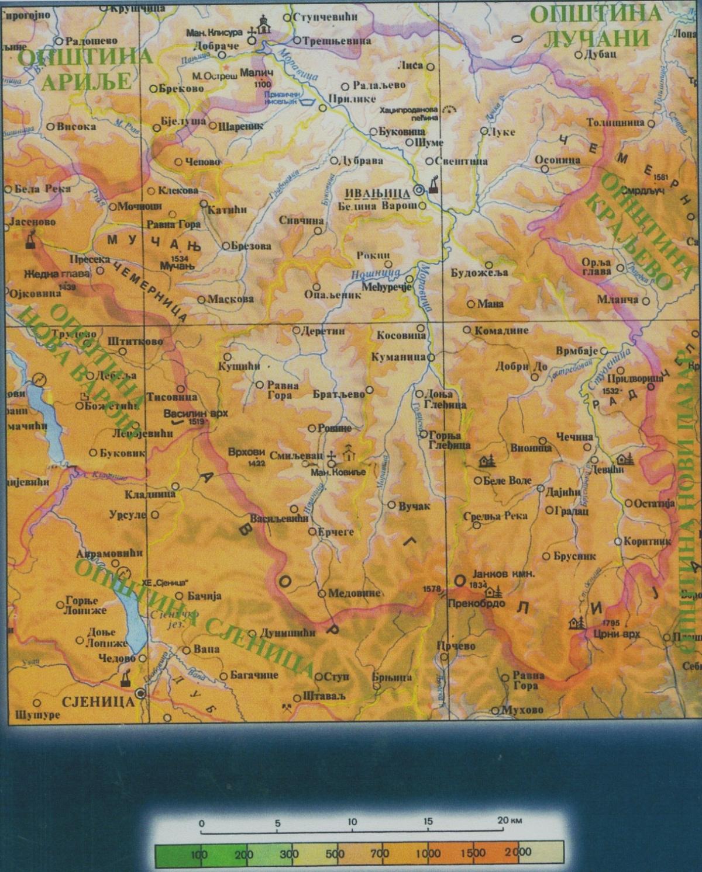 ivanjica mapa Golija   Ivanjica, Dajica brdo » Skijanje.rs ivanjica mapa