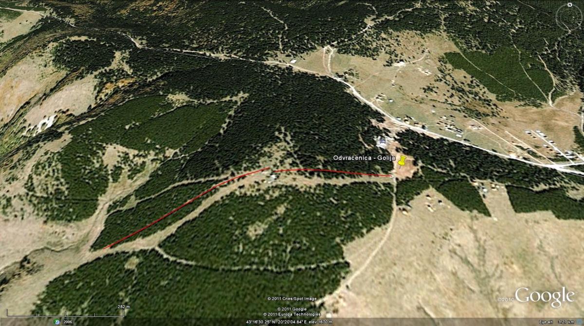 golija mapa Golija   Ivanjica, Dajica brdo » Skijanje.rs golija mapa