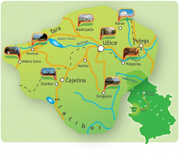 drvengrad mapa Iver   Mokra Gora » Skijanje.rs drvengrad mapa