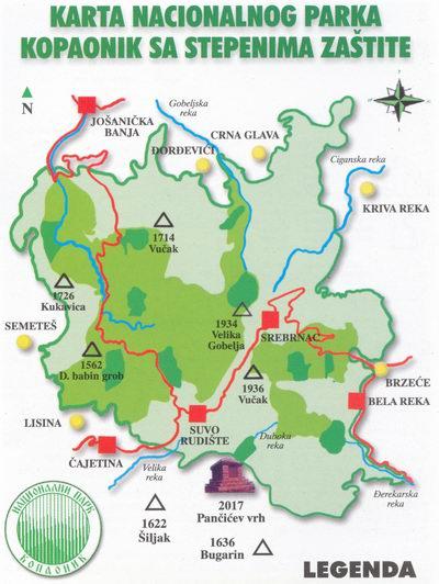 karta nacionalnih parkova srbije Nacionalni park Kopaonik » Skijanje.rs karta nacionalnih parkova srbije