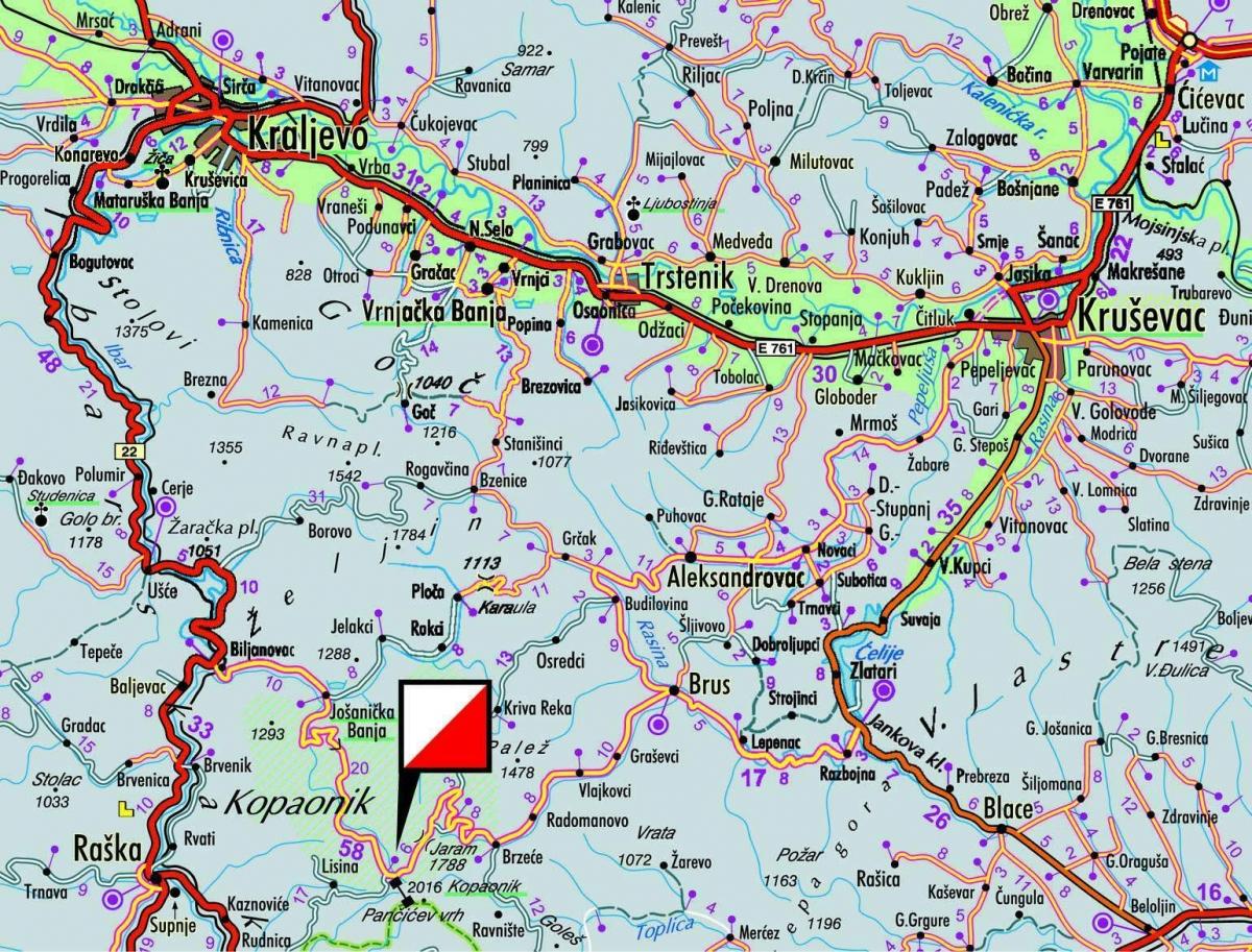 Mape Naselja Kopaonik Skijanje Rs