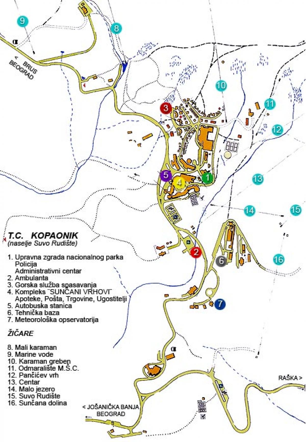 Kopaonik Mape