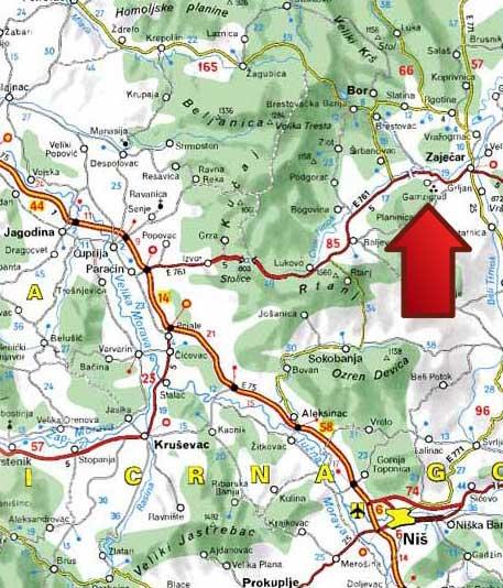 mapa jugoistocne srbije Kraljevica   Zaječar » Skijanje.rs mapa jugoistocne srbije