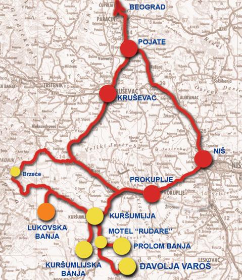 kursumlija mapa srbije Lukovska Banja » Skijanje.rs kursumlija mapa srbije