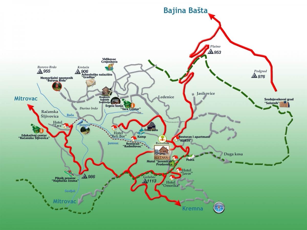 Karta Auto Karta Juzne Dalmacije