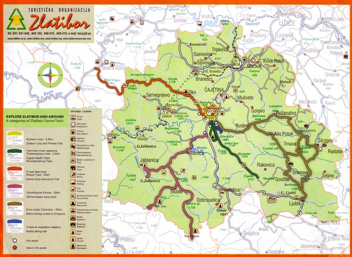 mapa zlatibor Tornik   Zlatibor » Skijanje.rs mapa zlatibor