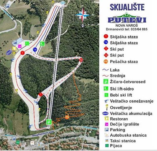 zlatar mapa Zlatar, Nova Varoš   Predstavljena nova mapa skijališta » Skijanje.rs zlatar mapa